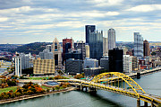 Ohio River Landscapes Posters - Fort Pitt Bridge Poster by Michelle Joseph-Long