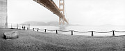 Golden Gate Photo Originals - Fort Point and Golden Gate Bridge by Jan Faul