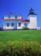 Stockton Prints - Fort Point Lighthouse Stockton Springs Print by John Burk