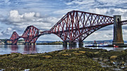 Fife Framed Prints - Forth Bridge in Scotland Framed Print by Zoe Ferrie