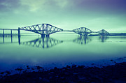 Dawn Light Framed Prints - Forth Bridge Queensferry Edinburgh Framed Print by Donald Davis