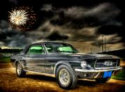 Classic Mustang Prints - Forth of July Mustang Print by Thomas Young