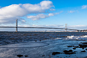 Mid Span Prints - Forth Road bridge Print by Gary Finnigan