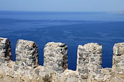 Battlement Prints - Fortification wall and blue ocean Print by Matthias Hauser