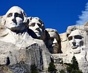 Stone Carvings Prints - Fortitude in America Print by Karen Wiles