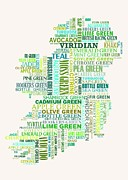 Ireland Map Digital Art - Forty Shades of Green light bg by Stefan Birch