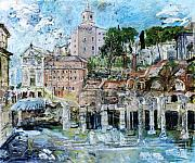 Rome Cityscape Paintings - Forum Romanum by Joan De Bot