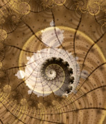 Fractal Geometry Digital Art Posters - Fossil Poster by David April