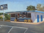 Drive In Painting Framed Prints - Fosters Freeze Framed Print by Deborah Cushman