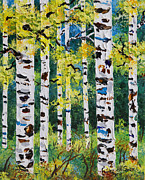 Aspen Tree Paintings - Found Beauty by Jill Saur