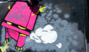 Urban Art Photos - Found Graffiti 12 Robot by Jera Sky