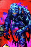 Jera Sky Metal Prints - Found Graffiti 25 Mummy Metal Print by Jera Sky