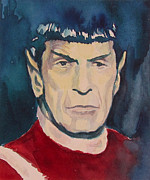 Spock Paintings - found Spock by Eric Hansen