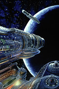 Science Fiction Framed Prints - Foundation Trilogy Framed Print by Don Dixon