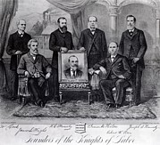 Group Portraits Framed Prints - Founders Of The Knights Of Labor Framed Print by Everett