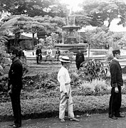 Costa Prints - Fountain and Plaza in Heredia - Costa Rica - c 1902 Print by International  Images