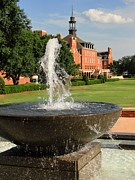Student Union Metal Prints - Fountain and Union Metal Print by Meandering Photography