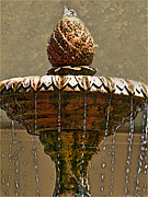 Fountain Digital Art Photos - Fountain art I by Debbie Portwood