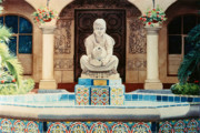 Sculptures  Framed Prints - Fountain at Cafe Del Rey Moro Framed Print by Mary Helmreich