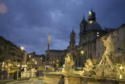Urban Scene Art - Fountain In The Piazza Navona by Richard Nowitz