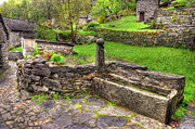 Stone Path Photos - Fountain made in stone by Mats Silvan