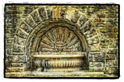Acrylic Art Pyrography Posters - Fountain Poster by Mauro Celotti