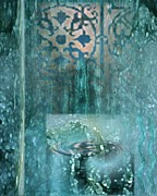 Rain Digital Art Originals - Fountain of Life by Brigetta  Margarietta