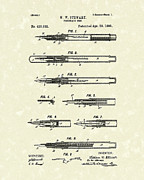 Stewart Metal Prints - Fountain Pen 1890 Patent Art Metal Print by Prior Art Design