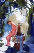 Homosexual Paintings - Fountain by Rene Capone