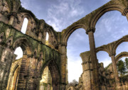 Castle Photos - Fountains Abbey 5 by Svetlana Sewell