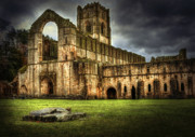 Old Building Framed Prints - Fountains Abbey Framed Print by Svetlana Sewell