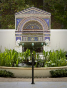 J Paul Photos - Fountains at the Getty Villa by Teresa Mucha