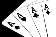 Gambling Photos - Four Aces I by Tom Mc Nemar