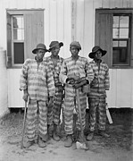 Chain Gang Prints - Four African American Youths Print by Everett