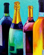 Original Framed Prints Paintings - Four Bottles by John  Nolan