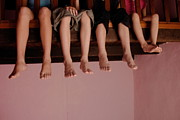 Four People Photos - Four children on mezzanine by Sami Sarkis