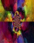 Four Corners In Purple Print by Miriam Shaw