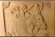 Bas Relief Reliefs Prints - Four Cultures Print by Thor Sigstedt