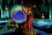 Zodiac Digital Art - Four Elements by Shadowlea Is