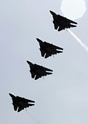 Flight Formation Photos - Four F-14d Tomcats In Flight by Stocktrek Images