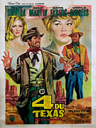 Sinatra Art Posters - Four For Texas, Ursula Andress, Dean Poster by Everett