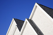 Roofline Prints - Four Gabled Rooflines Print by Jeremy Woodhouse