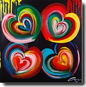 Challenging Painting Prints - Four Hearts-edition 5 Print by Mac Worthington