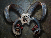 Black Rose Prints - Four Horns Print by Matt Hanson