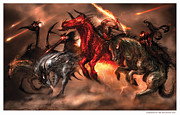 Alex Ruiz Metal Prints - Four Horsemen Metal Print by Alex Ruiz