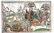Horsemen Framed Prints - Four Horsemen Of The Apocalypse, 1522 Framed Print by King