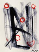 Abstracted Drawings Prints - Four Hugs Print by Mary Carol Williams