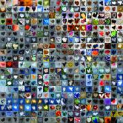 Grid Posters - Four Hundred and One Hearts Poster by Boy Sees Hearts