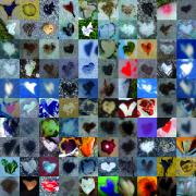 Contemporary Heart Collage Digital Art - Four Hundred Series  by Boy Sees Hearts