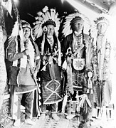Nez Perce Prints - Four Nez Percé Indians, Dressed Print by Everett